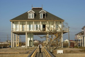 This Louisiana home was rebuilt with an elevated slab using INSUL-DECK after Hurricane Katrina destroyed the original structure.
